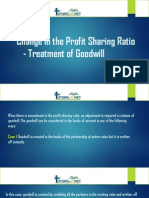 Change in the Profit Sharing Ratio - Treatment of Goodwill