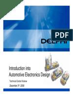 Introduction Into Automotive Electronics Design