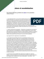 Migrations Et Mondialisation