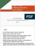 Praktikum Air Elektrolit & Asam Basa Dr. Loly 26sept'12
