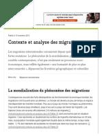 Contexte Et Analyse Des Migrations - CCFD-Terre Solidaire