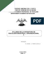 Silabus a Ps. Indust. y Organizacional II 2009-II