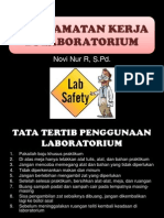 Keselamatan Kerja Di Laboratorium