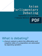 Asian Parliamentary Debating