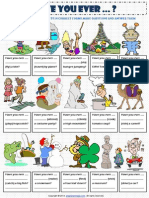 Present Perfect Tense Have You Ever Worksheet