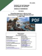 V11213 From Reformation to Revolution Handbook 2013-2014