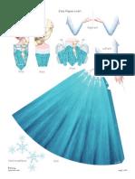 Disney Frozen Elsa Papercraft Craft Printable 0913 (1)