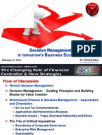 Decision Management - In Tomrrow's Business Eco System - GLM February, 12, 2014