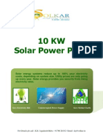 10 KW Solar Power Plant