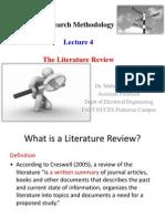 Lecture 4-Literature Reveiw