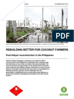 Building Inclusive Coconut-Based Livelihoods in Post-Haiyan Reconstruction in the Philippines