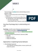 Psych 10 Module 1