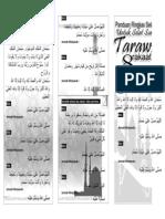 60617685 Bacaan Selawat Solat Tarawih 8 Rakaat Muka Hadapan Brochure
