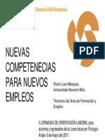 Nuevas competencias para nuevos empleos (Rocío Lara Márquez e Inmaculada Navarro Mira)