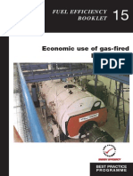 economic use of gas fired boiler plant