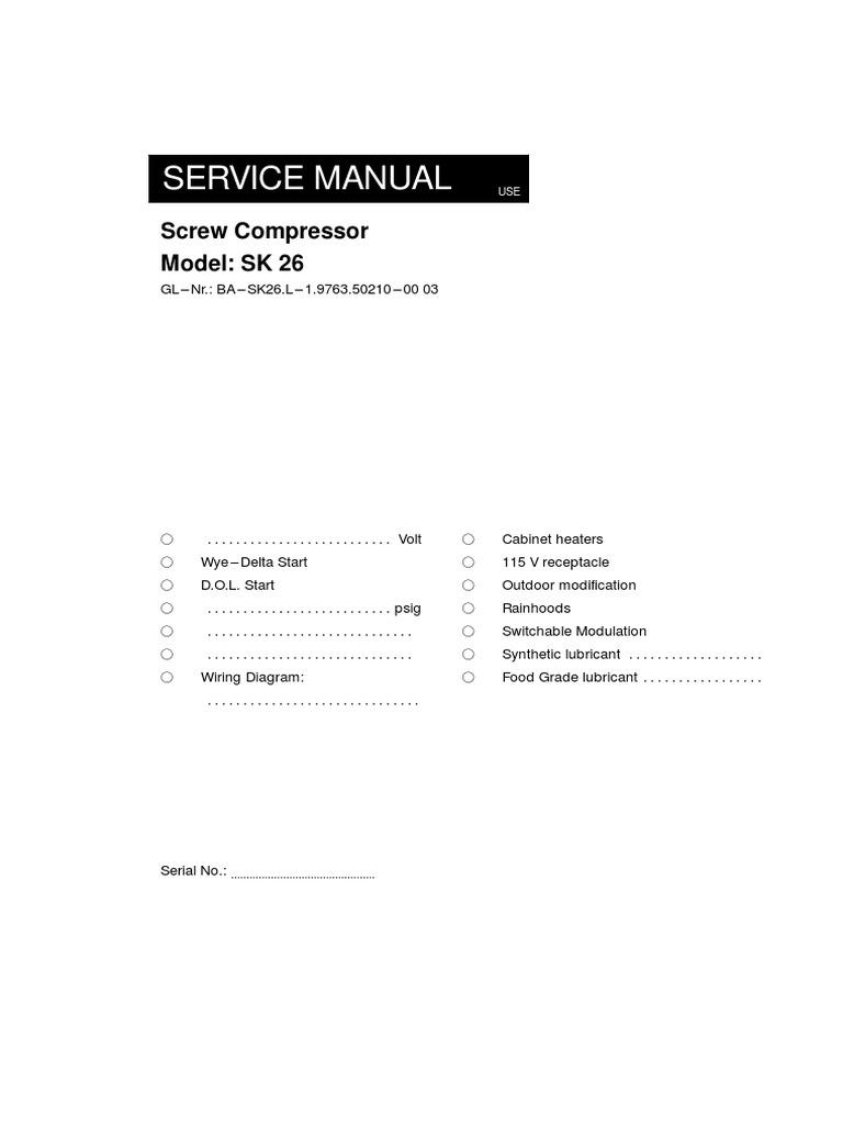 manual compressor motor oil gas compressor rh scribd com Kaeser Compressor Manual manual compresor kaeser sk 26