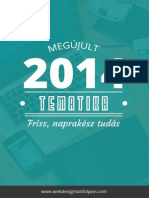 Online Webdesign Tanfolyam 2014 tanfolyam tematika
