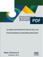Obras de Infraestrutura Do PAC e Povos Indigenas COMPLETO