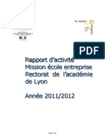 Bilan activité MEE 2012