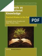 Kinsella Phronesis as Professional Knowledge