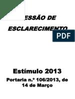 Estimulo 2013