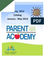 Parent Academy Spring 2014 Catalog