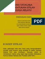 Skema Tata Cara Pembentukan Istilah Dlm Bm