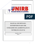Manual estagio GESTÃO DE UAN 2013.2 final