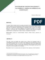 Alberto Lima - Controle Concentrado de Constitucionalidade