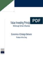 Value Investing Principles