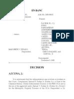 A.M. No. 2005-08-SC Runez v Jurado (Less Grave Neglect of Duty)