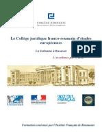 Le Collège juridique franco-roumain d'études européennes