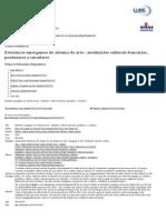 Estruturas emergentes do sistema da arte _ instituições culturais bancárias, produtores e curadores