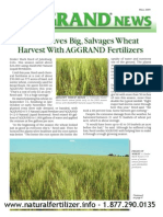 Wheat farmer save $26,000 using AGGRAND fertilizers