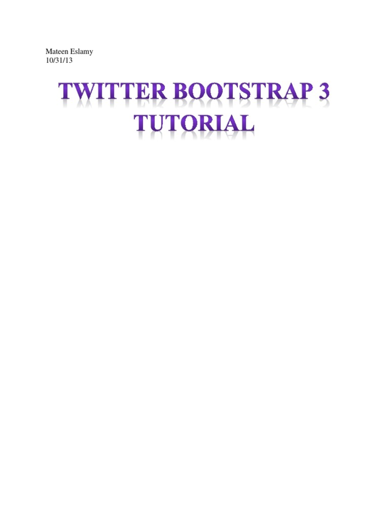 Twitter bootstrap 3 tutorial mateed eslamy web page twitter bootstrap 3 tutorial mateed eslamy web page bootstrap front end framework baditri Image collections