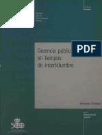 1989 Kliksberg - Gerencia Publica en Tiempos de Incertidumbre