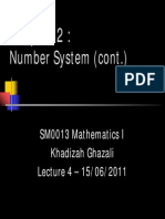 Chapter 2 - Number System II