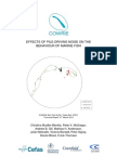 Effects of Pile-Driving Noise on the Behaviour of Marine Fish