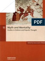 Anna-Leena Siikala Editor Myth and Mentality Studies in Folklore and Popular Thought Studia Fennica Folkloristica 2002