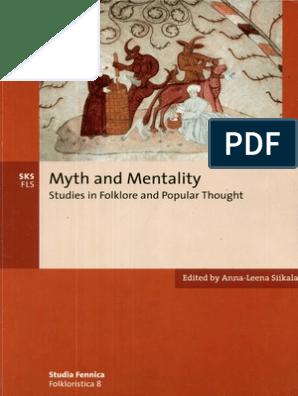 Anna-Leena Siikala Editor Myth and Mentality Studies in