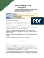 Proyecto de Ley 17-04-06 - HCDN - Dip Vanossi#