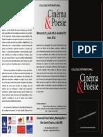 Cinema et Poésie - Programme-U.montpellier-2013