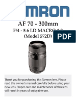 Tamron AF70-300 (Model 572D)
