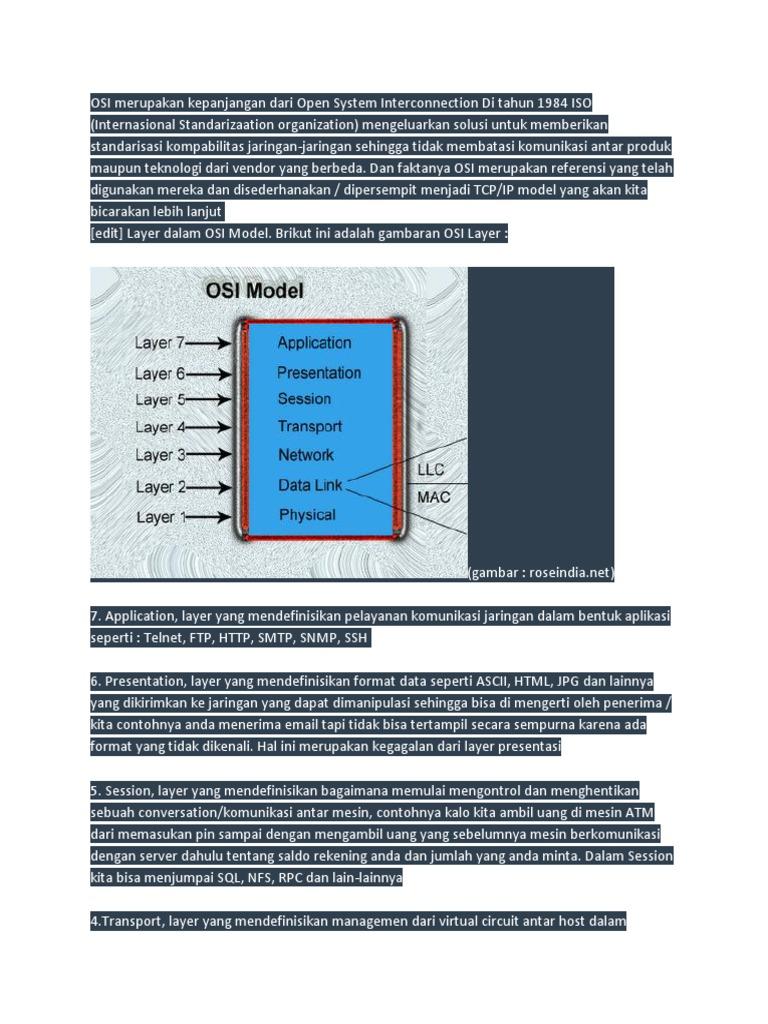Osi Merupakan Aturan Aturan Komunikasi Data Yang Dibuat ...