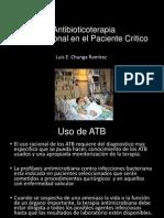 Antibioticoterapia Racional en El Paciente Critico DR. CHUNG