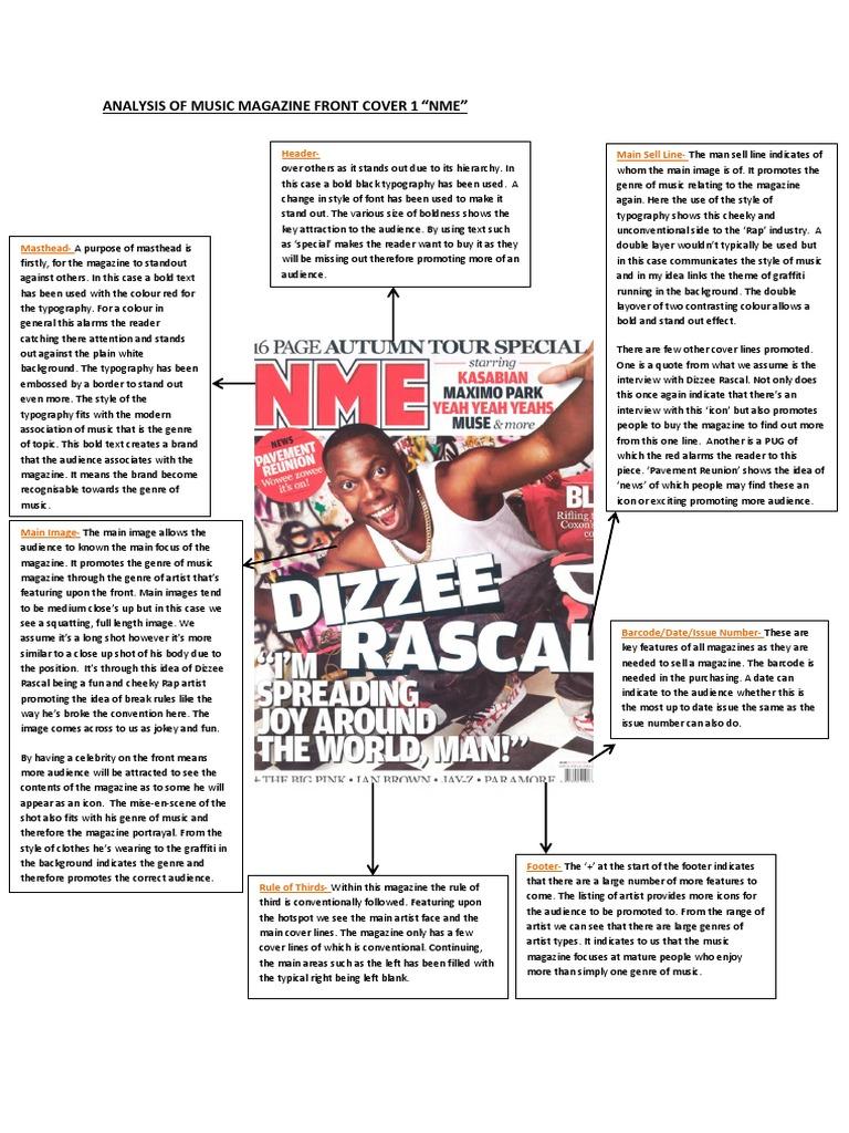 Analysis Of Music Magazine Front Cover 1 Typography Graffiti