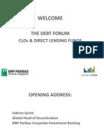 The Debt Forum Presentations