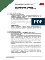 Especificaciones Tecnicas Sustitucion de 08 Aulas