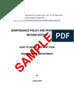 Maintenance Guide Sample