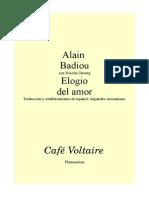 Alain Badiou Elogio Del Amor